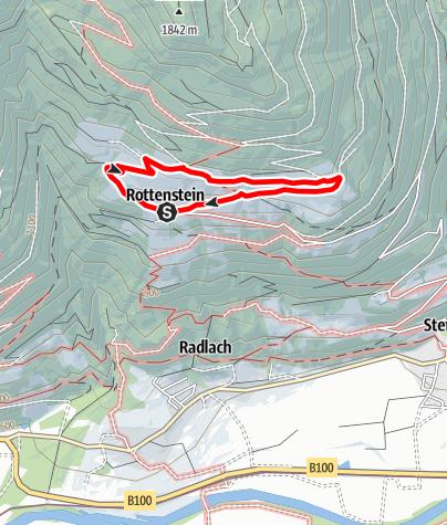 Map / Berghöfe Wanderweg