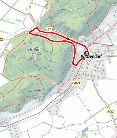 Karte / Winzendorf Rundwanderweg 3, Jubiläumssteig