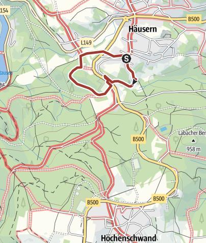 Karte / Waldlehrpfad Häusern