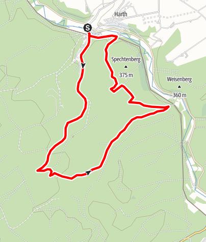 Karte / Wandern in und um Harth-Ringelstein im Bürener Land