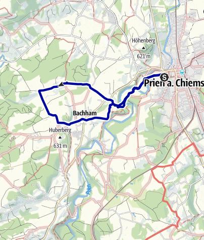 Karte / Prien - Munzing - Arbing