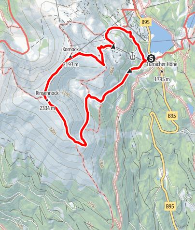 Karte / Rundweg Rinsennock