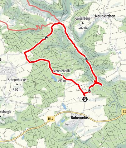 Karte / Steiler Aufstieg mit Ausblick