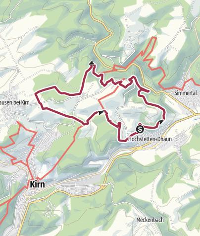 Karte / Vitaltour Wildgrafenweg