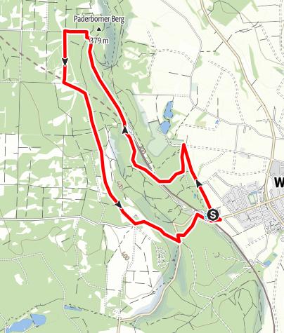 Kaart / Aktiv-Park im Eggegebirge, Route 4
