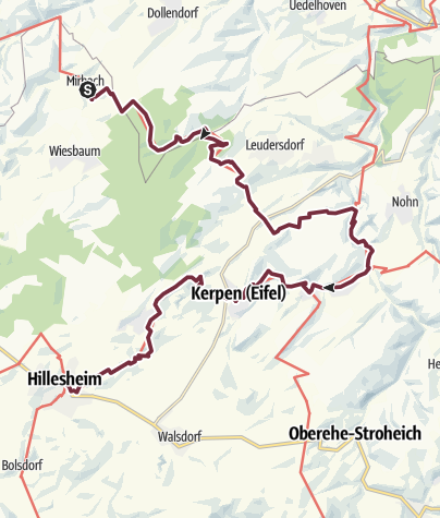 Kaart / Eifelsteig Etappe 08: Mirbach - Hillesheim