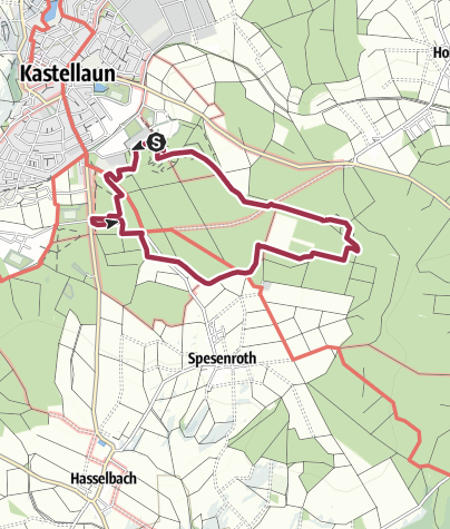Map / Traumschleife Burgstadt-Pfad (Burgstadt Trail Dream Loop)