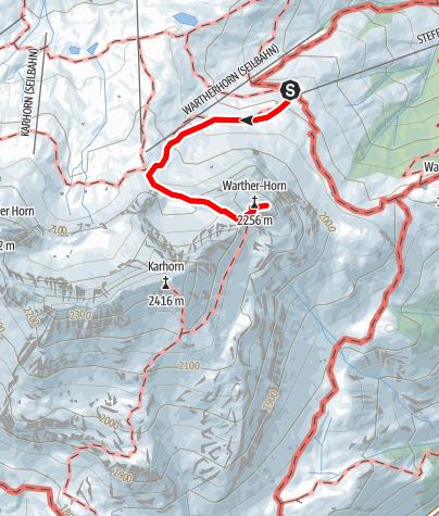 Karte / Wartherhorn