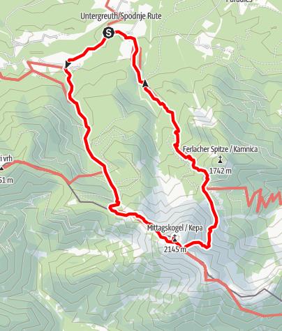 Karte / Mittagskogel Rundwanderweg