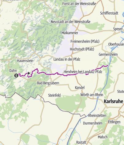 Karte / Klingbach-Radweg