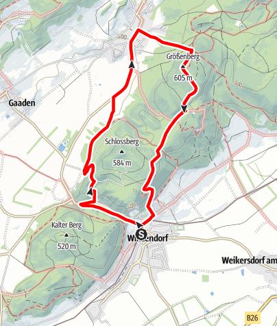 Térkép / Winzendorf Rundwanderweg 7, Größenberg