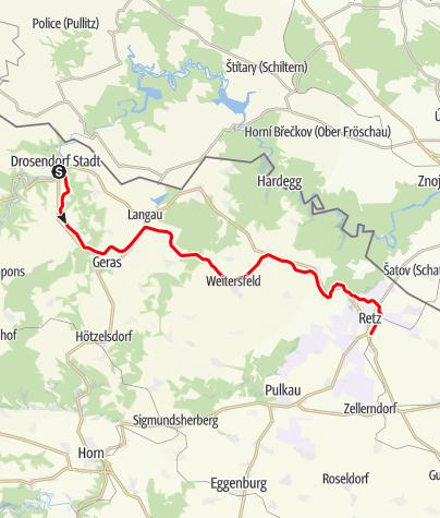 Mapa / Reblaus Express (Drosendorf - Retz)