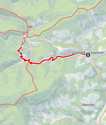Karte / Auf den Spuren Peter Roseggers - Der Christmettenweg