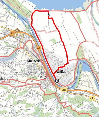 Karte / Barrierefrei: Im Gaißauer Ried – Zwischen Altem Rhein und Wetterwinkel