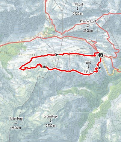 Karte / Kaltenberghütte   St. Christoph