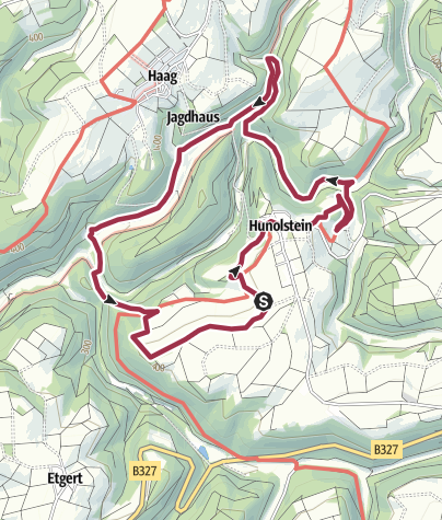 Karte / Traumschleife Hunolsteiner Klammtour
