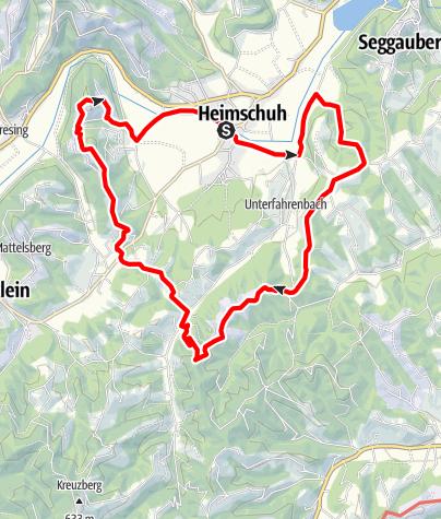 Karte / Heimschuher Runde Süd