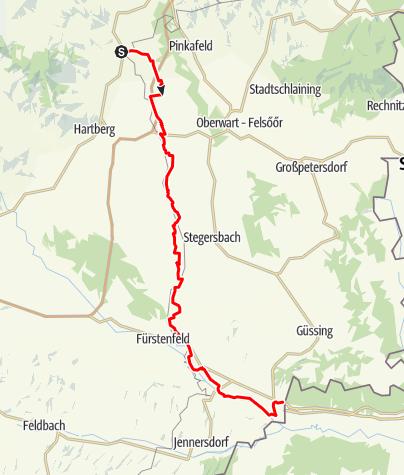 Karte / B75 Lafnitztal-Radweg