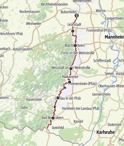 Map / Pfälzer Mandelpfad (Hauptweg)