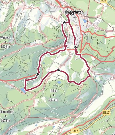 Karte / Mystischer Weg zum Mathisleweiher