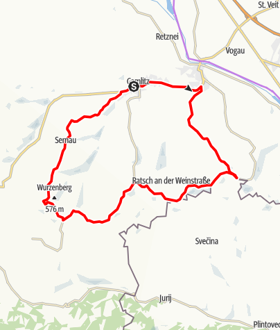 Karte / Genussradeln - Weinstraßen Tour Variante 2