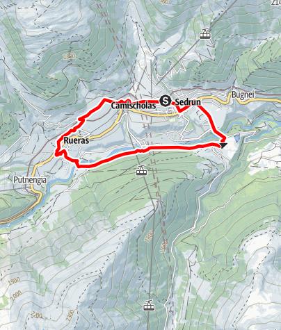 Map / Joggingrunde Sedrun