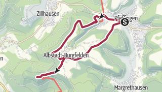 Karte / Rundwanderung vom Eyachtal auf den Böllat und die Schalksburg