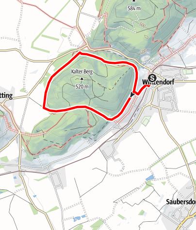Térkép / Winzendorf Rundwanderweg B, Kaltenbergrunde