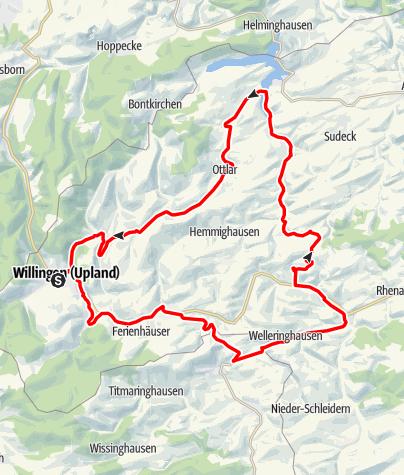 Karte / Bike Arena Sauerland - Upland-Rundkurs