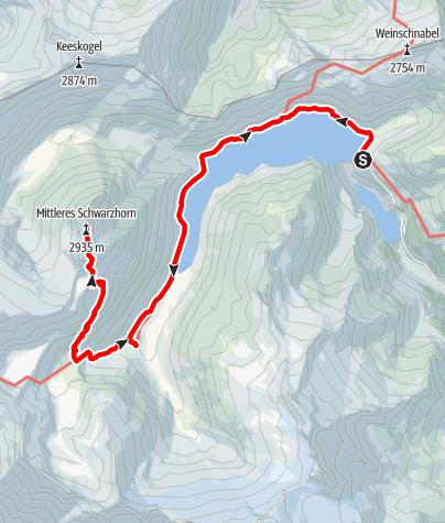 Karte / Schwarzhorn