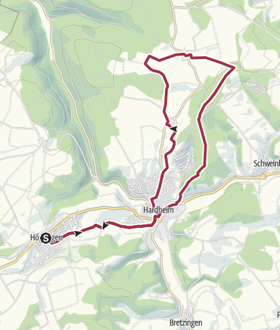 Karte / Odenwald-Madonnen-Runde