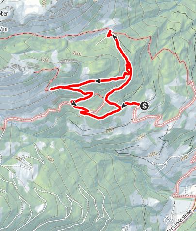 Karte / Großarl: Mooslehenalm – Igltalalm – Viehhausalm