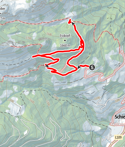 Map / Grossarl: Mooslehenalm - Igltalalm - Viehhausalm