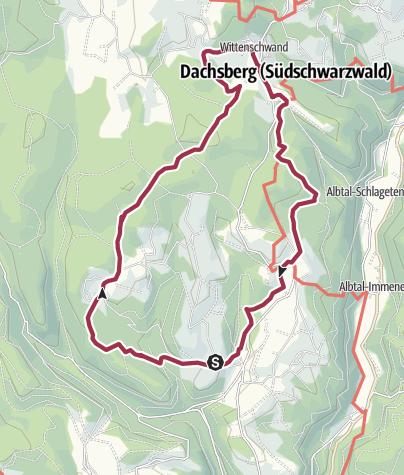 Karte / Dachsberg: Große Dachsberg-Runde