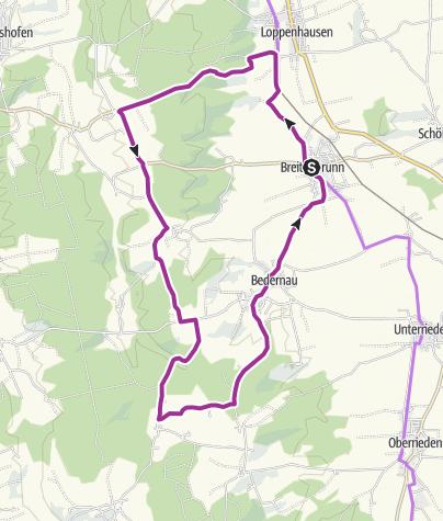 Karte / Thermal- und Wallfahrtsrunde