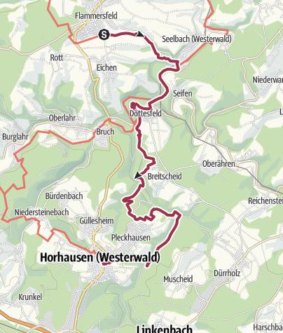 Karte / WesterwaldSteig  13. Etappe Flammersfeld - Horhausen (Ost-West)