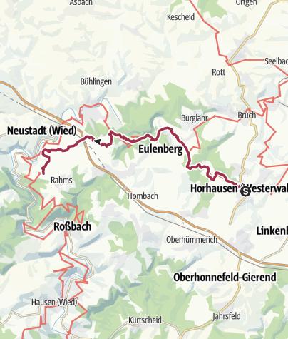Karte / WesterwaldSteig  14. Etappe Horhausen - Strauscheid (Ost-West)