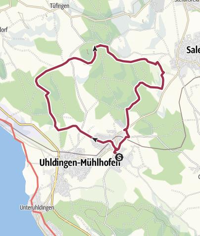 Karte / Auf dem Prälatenweg  zum Affenberg – vorbei an romantischen Seen und tiefen Wäldern