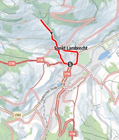 Map / St. Lambrecht_Stift St. Lambrecht und die Klamm