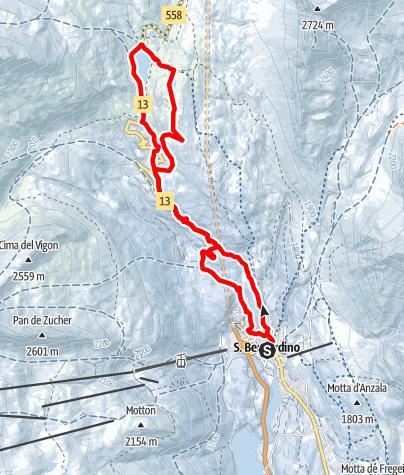 Karte / 556 - Passo San Bernardino / San Bernardino Pass