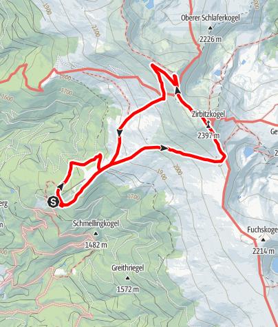 Map / kleine Zirbitzkogelrunde