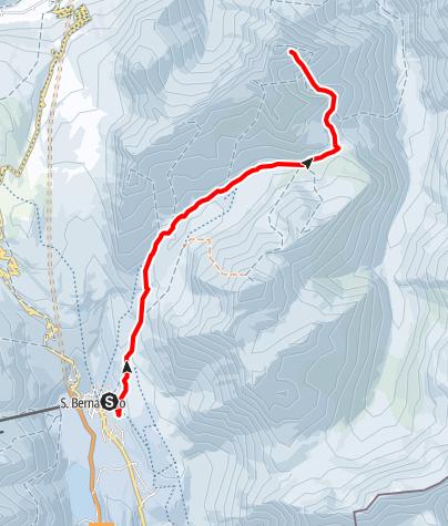 Karte / sci d'escursionismo San Bernardino - Einshorn