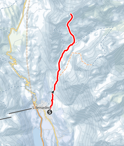 Karte / sci d'escursionismo San Bernardino - Piz Cavriola