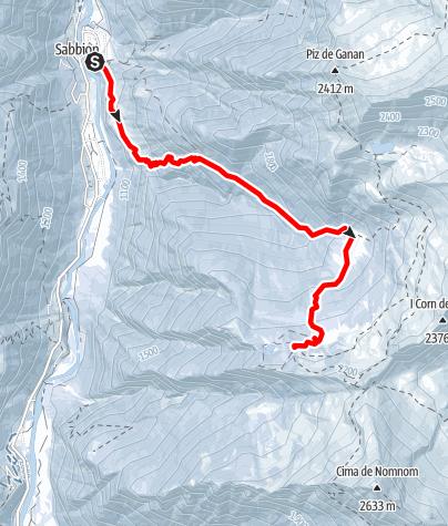 Karte / Skitour von Rossa (Calanca) nach capanna Buffalora