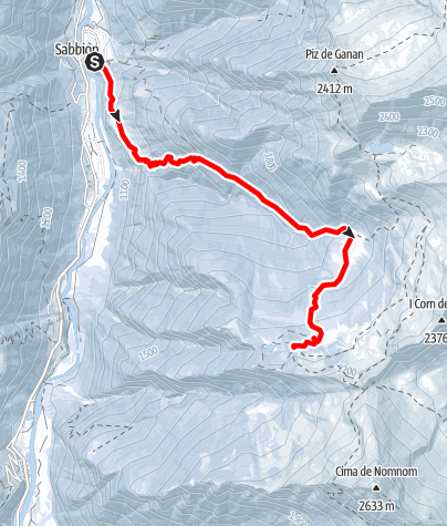 Map / Skitour von Rossa (Calanca) nach capanna Buffalora