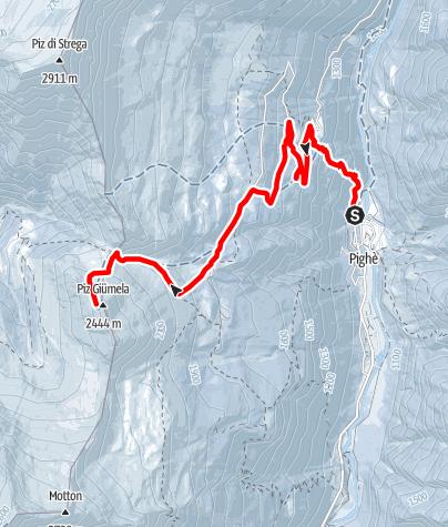 Karte / Skitour Rossa (Calanca) - Piz Giümela