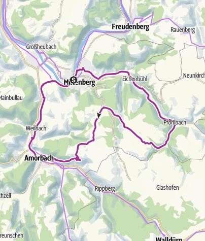 Karte / Radrundtour durch das Erftal