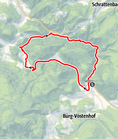 Karte / Sierningtal - Strecke