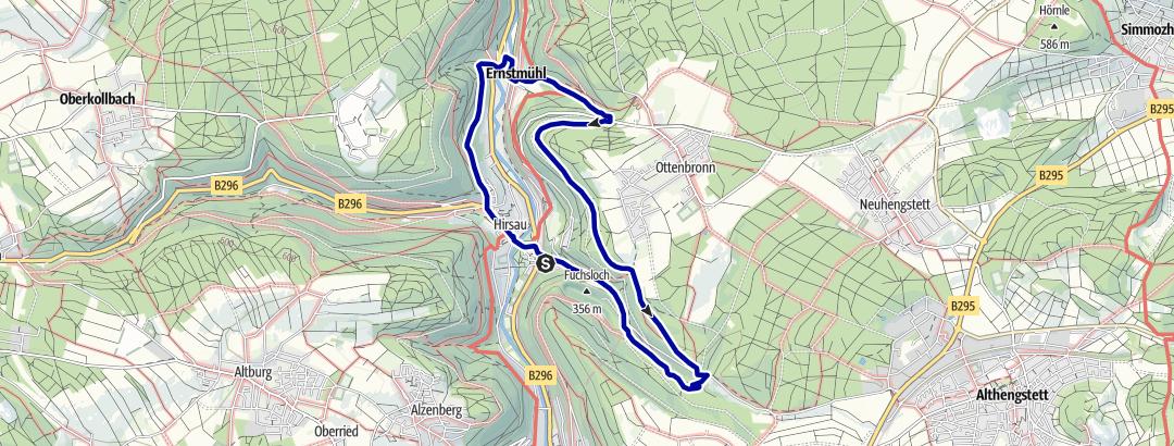 Karte / Hirsau und Hesse