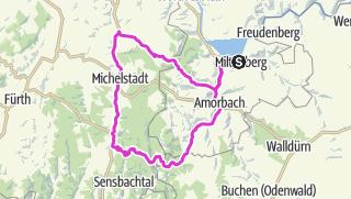 Karte / Zum Le Alpe de Huez des Odenwaldes